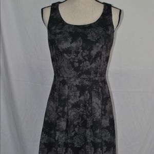 Ivanka Trump Black Gray Floral Fit Flare Dress 4